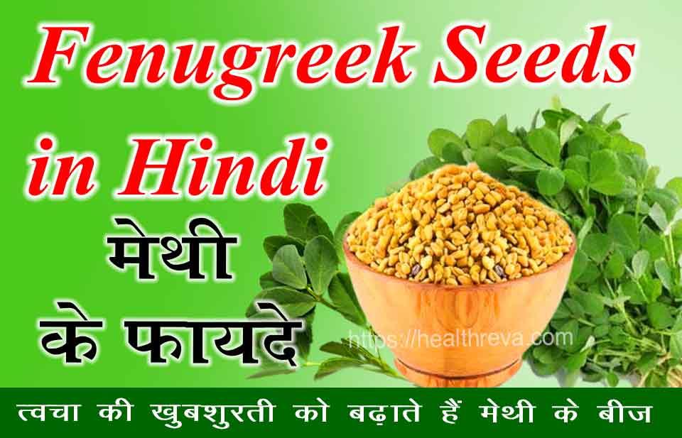 Fenugreek Seeds in Hindi - मेथी के फायदे